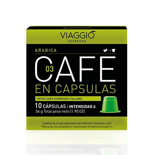 Viaggio Espresso Cápsulas de café compatibles con máquinas Nespresso Arábica (60 Cápsulas)