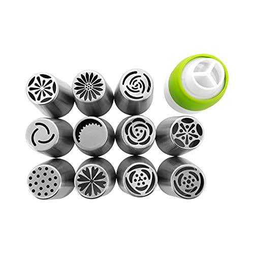 Jogo Bicos Russos de Confeitar Aço Inox com 12 Peças - CF32 - Yangzi