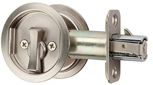 Citiloc Round Bed/Bath Privacy Pocket Door Latch Satin Nickel