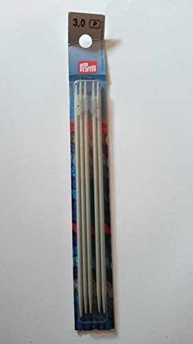 Prym Strumpfstricknadeln ALU 15 cm 3,00 mm grau Strumpfstricknadel, Aluminium, 3 mm