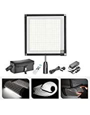 Neewer Foldable 256 LED Lighting Panel on Frabic, with 2.4G 11-Channel Remote Control and AC, for Video Photography, YouTube, Beauty Blogger