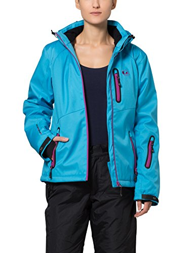 Ultrasport Damen Softshelljacke Serfaus, Vivid Blue/Purple Wine, L