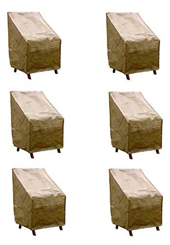GRASEKAMP Qualität seit 1972 Stuhlhülle 6er Set Stuhlhussen Abdeckhaube Stuhl Stapelstühle - Sonderpreis
