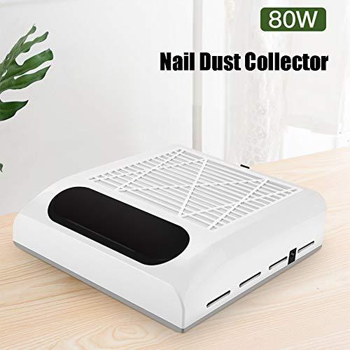 MFBZYU Colector de Polvo para Uñas 80W Succión Colector de Polvo Aspiradora Máquina de Uñas con Ventilador Fuerte y Filtro,Enfriamiento Rápido