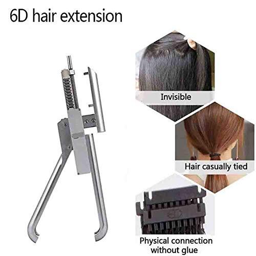 NSWD 6D Connecteur Perruque Outils D'extension Extensions de Cheveux Machine Outils Extensions Humain Cheveux sans Couture Naturel Extension des Cheveux Coiffeur avec 80pcs Bouton de Cheveux