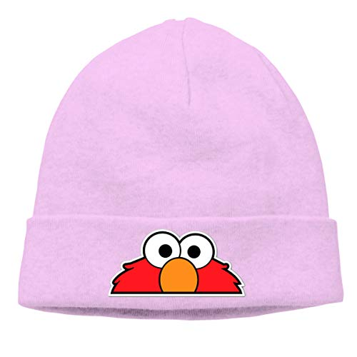 ALWAYSUV Mens & Women's Unique Design Elmo's World Winter Knit Beanie Hat Unisex Pink