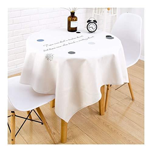 William 337 Mantel – Mantel redondo de lino y algodón, lavable a prueba de polvo, para decoración de mesa de cocina, comedor (color: D, tamaño: 60 x 60 cm)