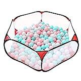 Portátil lindo hexagonal parque infantil Ball Pit, interior y al aire libre fácil plegable bola jugar piscina niños juguete juego tienda