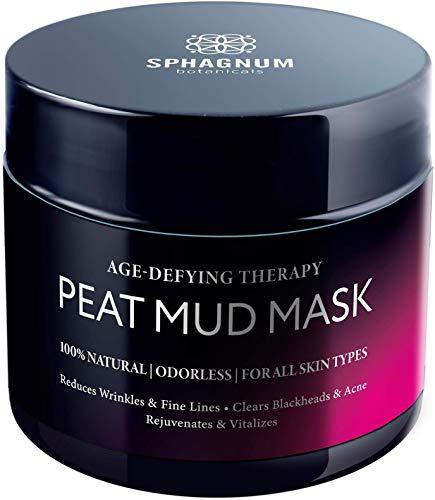 Mascarilla facial antienvejecimiento natural - Terapia de lodo de turba curativa, ideal para aliviar las arrugas, humectante facial hidratante y de limpieza profunda, 150 ml