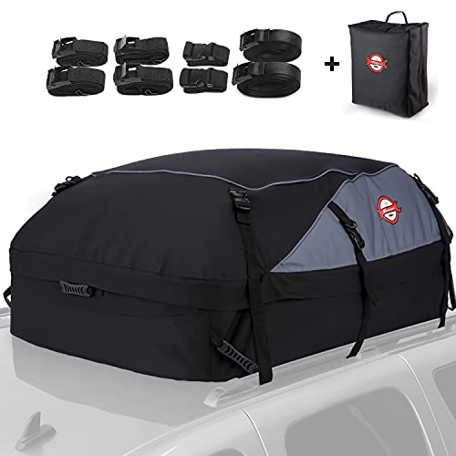 Housewives 20 Cubic ft Car Roof Bag Top Carrier Cargo Storage Rooftop Luggage Waterproof Soft Box...