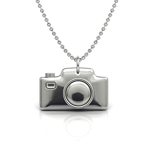 The Best Digital Camera Pendant Necklace.925 Sterling Silver 18 Inch Necklace with Camera Pendent