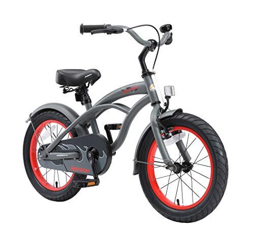 BIKESTAR Premium Sicherheits Kinderfahrrad 16 Zoll für Jungen ab 4 - 5 Jahre ★ 16er Kinderrad Cruiser ★ Fahrrad für Kinder Grün
