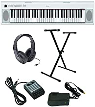 Yamaha Piaggero NP-12 Ultra-Premium Keyboard Package with Headphones, Stand, Sustain Pedal and Power Supply