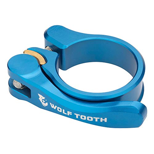 Wolf Tooth QR Quick Release Seatpost Clamp - 31.8mm, Blue