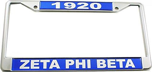 Cultural Exchange Zeta Phi Beta 1920 Domed License Plate Frame [Silver - Car/Truck]