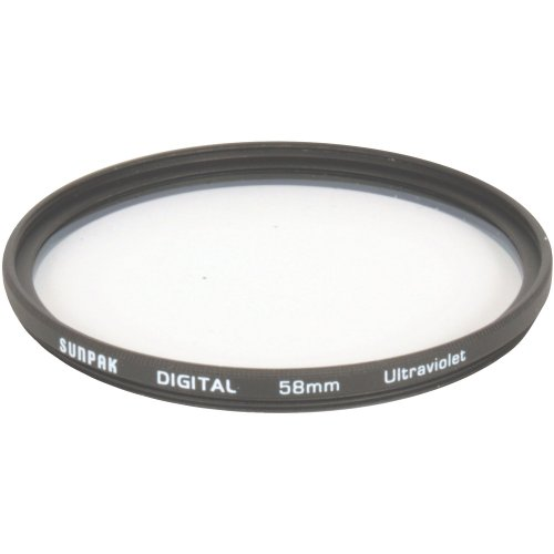 Sunpak 58mm UV Camera Filter (CF-7034)