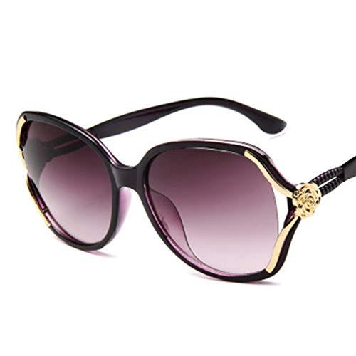 Gafas de Sol polarizadas para Mujer Gafas de Moda Gafas de Sol para Mujer Sombras Gafas de Seguridad Gafas de conducción Diseño Simple (Morado)