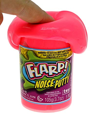 JA-RU Flarp Noise Putty Scented (1 Unit Assorted) Squishy Sensory Toys for Easter, ADHD Autism Stress Toy, Great Party Favors Fidget for Kids and Adults Boys & Girls. Plus 1 Bouncy Ball 10041-1p