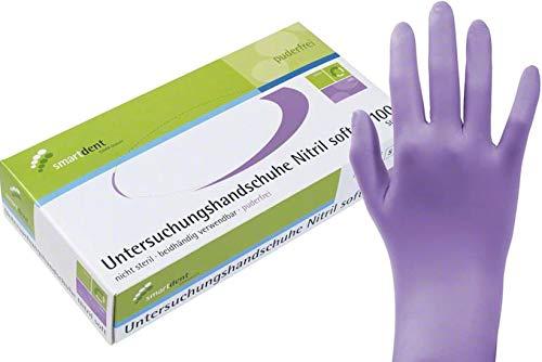 1 caja dispensadora = 100 unidades. Smartdent - Guantes de nitrilo suave para estudio, varios colores y tamaños