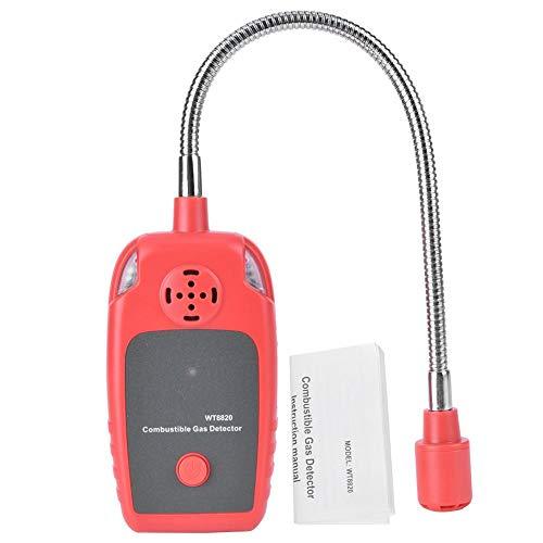 Oumefar Hochempfindlichkeitstest Gastester Tragbarer Erdgasleckalarm Brenngasdetektor Gasdetektor für den Einsatz zu Hause