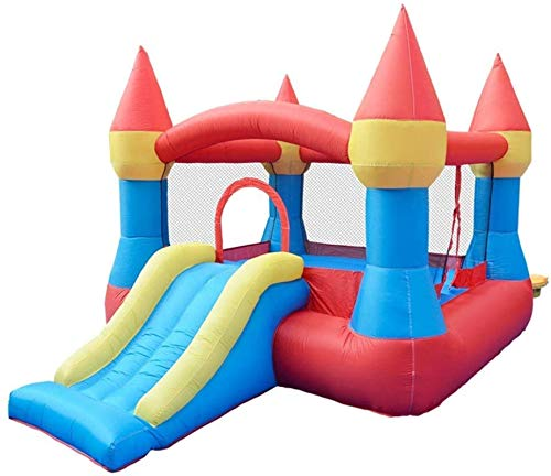 Vivid Inflatable Bouncy Castle Kids' Bounce House Air Bouncer Inflatable Bouncer For Outdoor And Indoor Durable Sewn for Kids with Water Slide, Climbing
