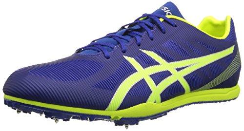 ASICS Men's Heat Chaser Track And Field Shoe,Deep Blue/Flash Yellow,12 M US -  ASICS America Corporation