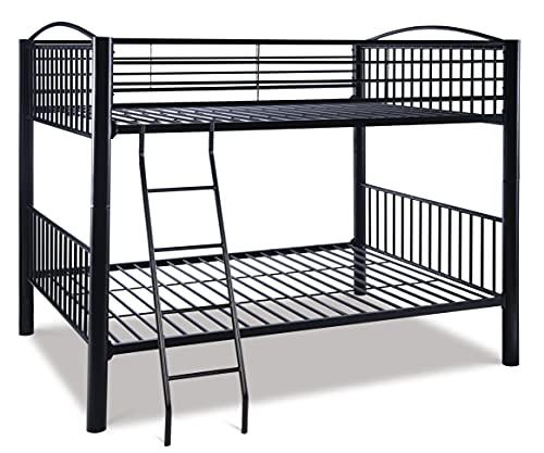Powell Heavy Metal Bunk Bed, Full-Over-Full, Black