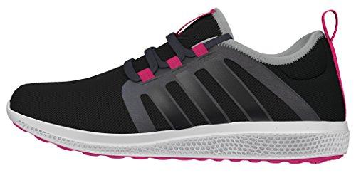 adidas Fresh Bounce W, Zapatillas de Running Mujer, Negro (Negbas/Neguti/Rosimp), 37 1/3