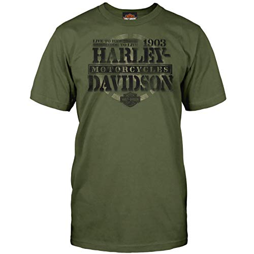 HARLEY-DAVIDSON Military – Herren Graphic Short Sleeve Tee – Overseas Tour | Honor - Grün - X-Groß