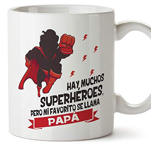 MUGFFINS Taza Papá (Hay muchos superhéroes) - Regalos Originales y Divertidos para el Día del Padre