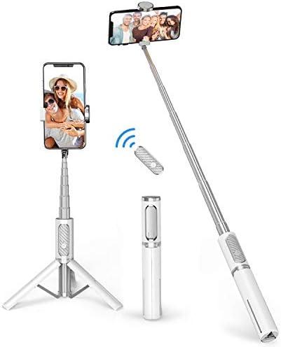 ATUMTEK Bluetooth Selfie Stick Tripod Mini Extendable 3 in 1 Aluminum Selfie Stick with Wireless product image