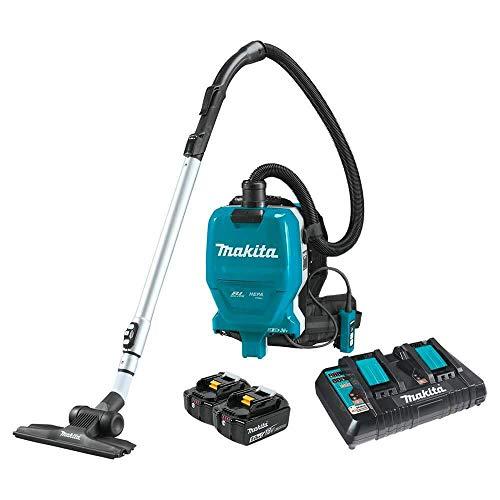 Makita XCV09PT 18V X2 LXT Lithium-Ion (36V) Brushless Cordless 1/2 Gallon HEPA Filter Backpack Dry Vacuum Kit (5.0Ah)