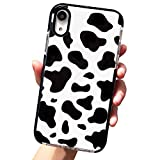AMART Cow Phone Case for iPhone XR, Cute Cow Print Silicone