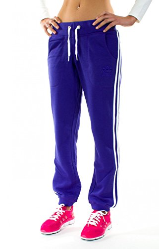 adidas Originals Damen Hose Slim Pant Trainingshose (Blast Purple - White, 32)