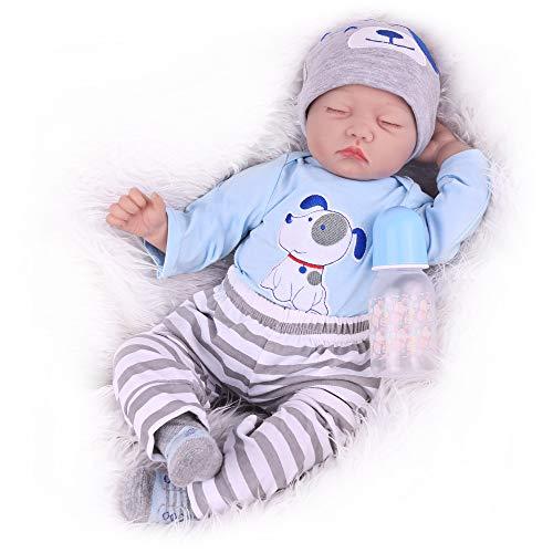 Kaydora Sleeping Reborn Baby Dolls, 22 Inch Newborn Baby Boy Doll, Realistic Weighted Baby Reborn Toddler