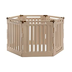 Richell-Convertible-Indoor/Outdoor-Dog-Pet-Playpen