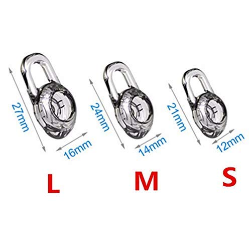 3 Almohadillas de Silicona de Repuesto para Auriculares inalámbricos Plantronics Explorer 500