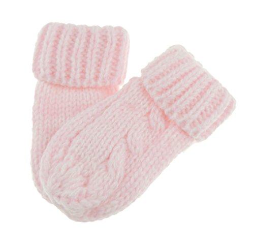 Glamour Girlz Manoplas de punto fino para bebés y niñas, color rosa