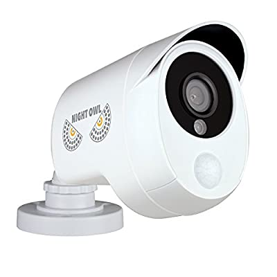 Night Owl Security 1 Pack Add–On 1080p Wired HD Analog Security Camera with Heat Based Motion Detection