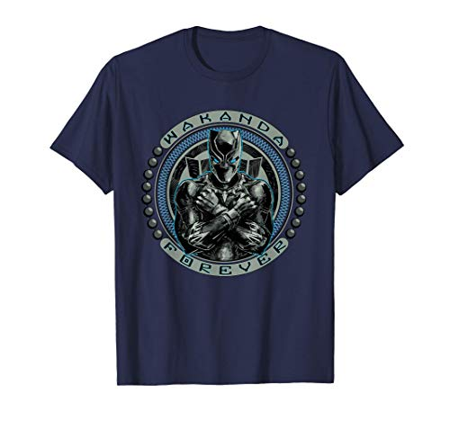 Marvel Black Panther T'Challa Emblem Wakanda Forever T-Shirt