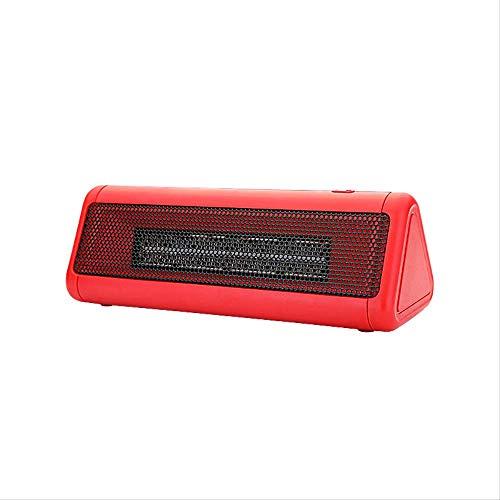 Calefactor eléctrico portátil de 300 W, Fiebre, pequeño espacio, mini calefactor de escritorio, para casa, oficina, casa, color rojo