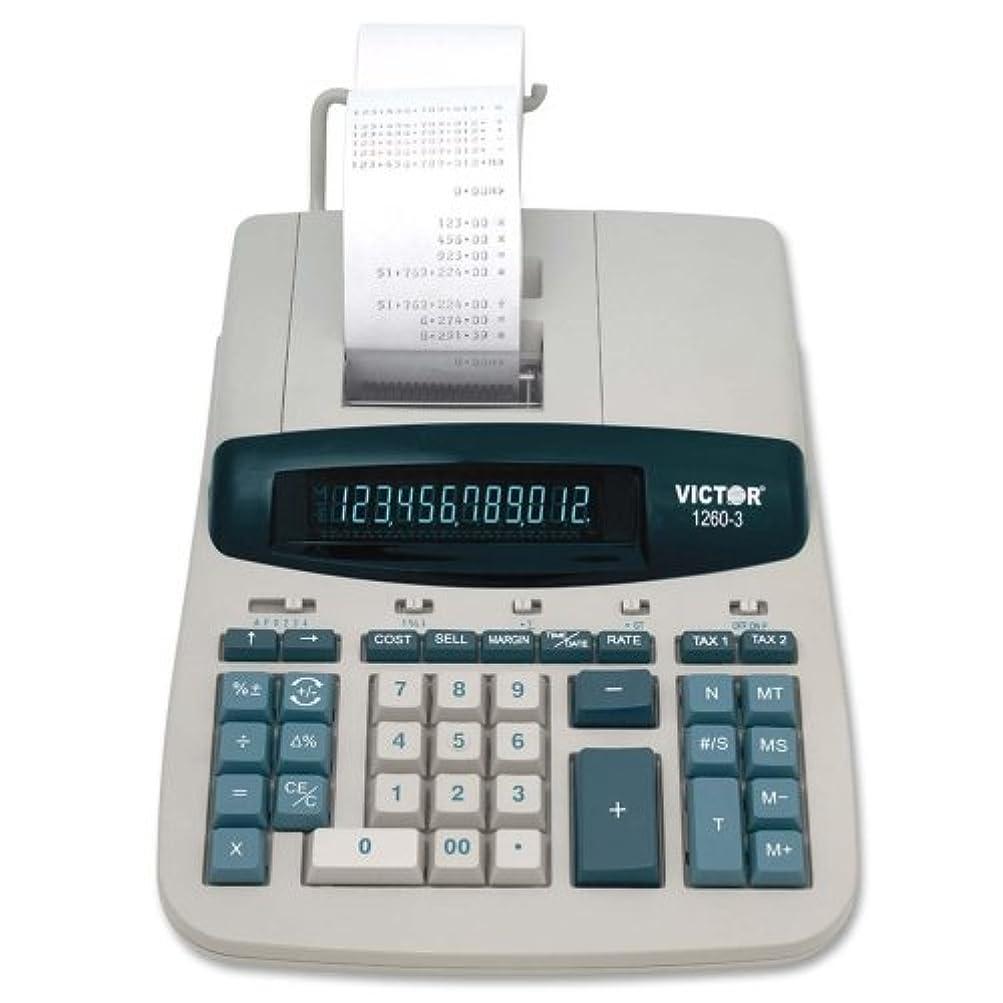 尊敬するどっち取り出すWholesale CASE of 3?–?VICTOR商用calculator-12-digit 12桁電卓、2色印刷、8?