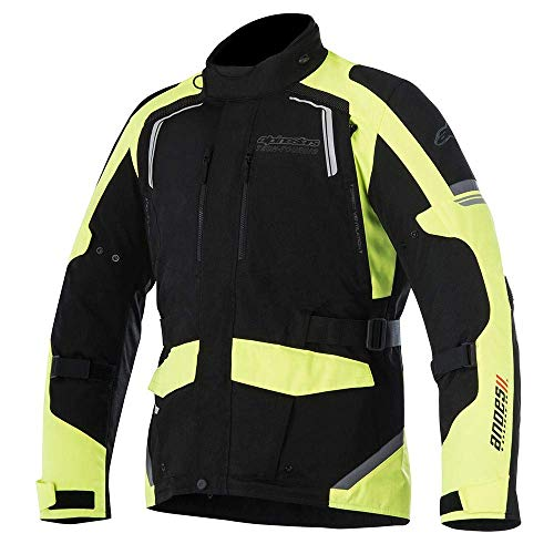 Alpinestars Men's Andes v2 Drystar Motorcycle Jacket, Black/Yellow, Large
