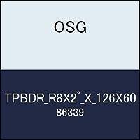 OSG テーパボールエンドミル TPBDR_R8X2゚_X_126X60 商品番号 86339