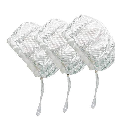Cappellino da Chef Regolabile Elastico per Alimenti Riutilizzabile per Ristoranti Cappello da cuoco (drawstring white mesh)