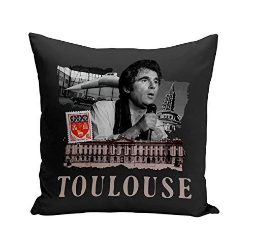 Coussin 40x40 cm Toulouse Collage Ville France Symbole Capitole