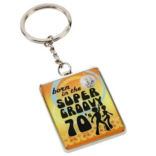 Born in the Super Groovy 70s Keyring