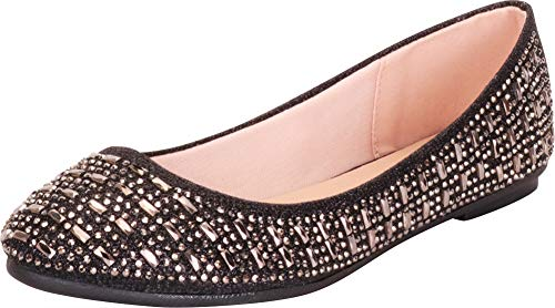 Top 10 best selling list for womens black sequin flat shoes