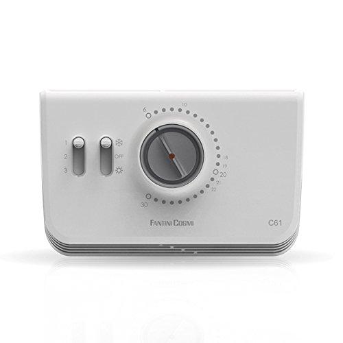 Fantini Cosmi C61 kamerthermostaat voor ventielconvectoren, wit