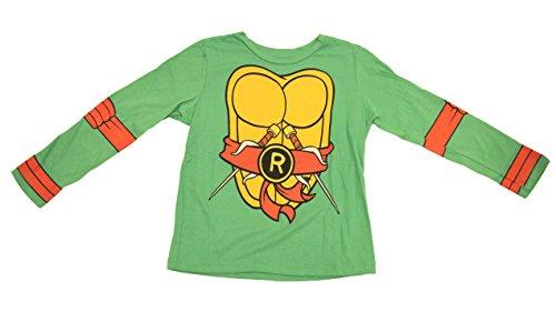 Teenage Mutant Ninja Turtles Long Sleeve Raphael Costume Adult Green T-Shirt & Eye Mask (Adult Medium)
